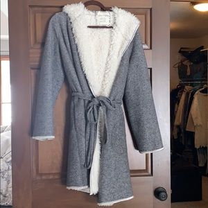 Anthropology Sherpa lined robe